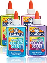 Elmer's Washable Translucent Color Glue, Great For Making Slime, Assorted Colors, 5 Ounces Each, 4 Count, 5 Oz., Standard ...
