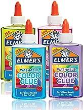 Elmer 's lavable color translúcido pegamento, Colores Variados, 4-Count