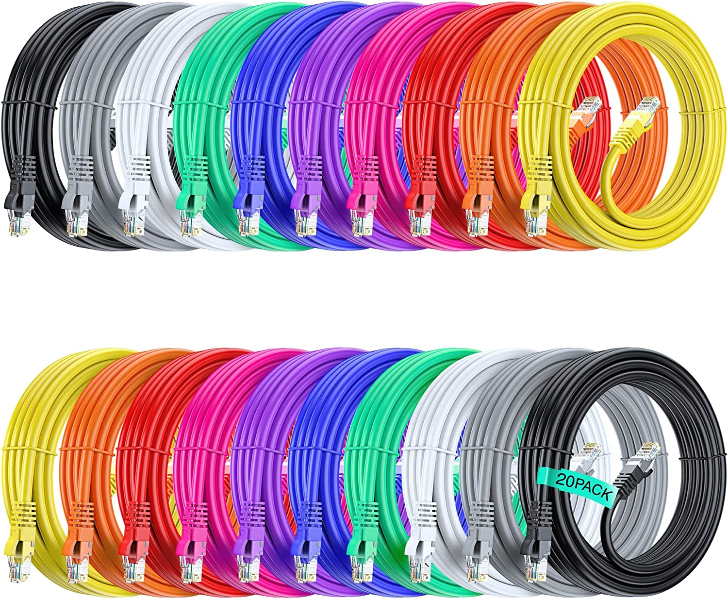 Maximm Ethernet Cable 15ft Cat Very popular 6 Pure Directly managed store LAN UL Listed Copper UTP
