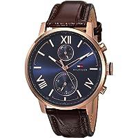 Tommy Hilfiger Men's 'ALDEN' Quartz Stainless Steel & Leather Casual Watch