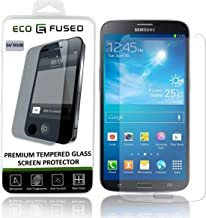 Eco-Fused Tempered Glass Screen Protector compatible with Samsung Galaxy S4 – Glass Screen Protectors with Oleophobic Coating – Anti Fingerprint and Anti Scratch