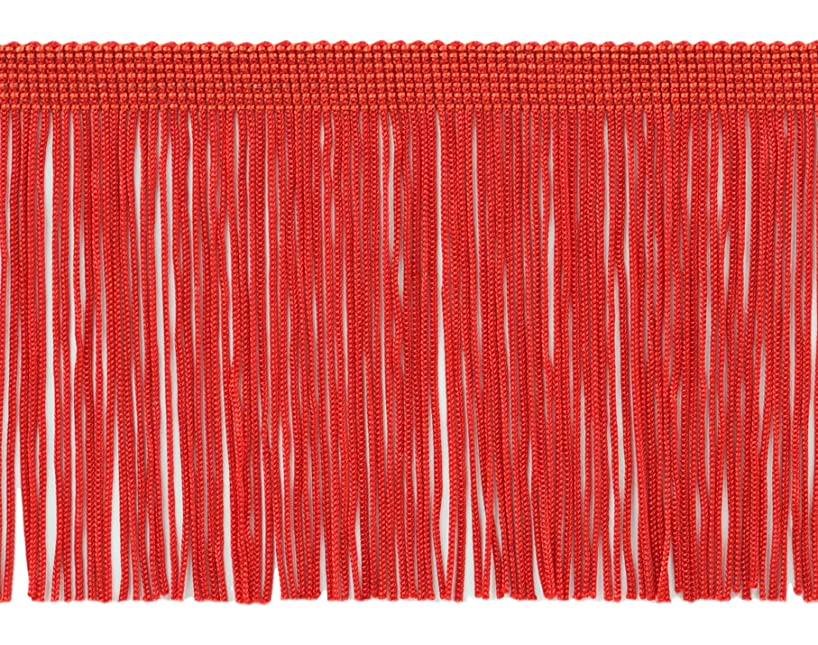 DecoPro 11 Yard Value Pack of 4 Inch Long Chainette Fringe Trim, Style# CF04 Color: Red - 06 (32.5 Feet / 10M)