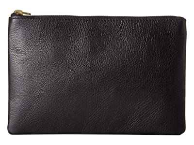 Madewell The Leather Pouch Clutch (True Black) Handbags