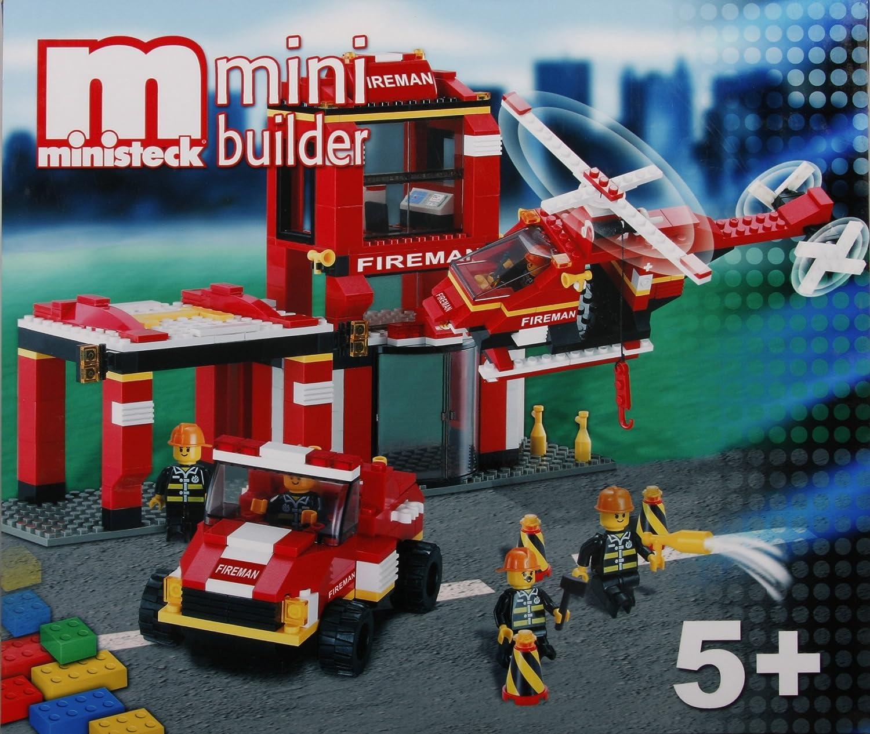 Ministeck 24509 - Bausteine Feuerwehrstation mit Geländewagen & Helikopter B00279Q6AU  | Attraktive Mode