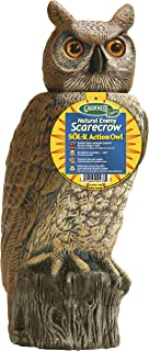 Dalen Gardeneer 100055888 Gardeneer by Dalen Solar Action Owl Natural Scarecrow Device, 18in, 18 in, Yellow