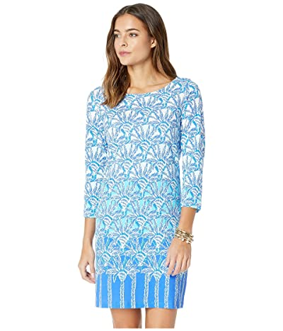 Lilly Pulitzer Bay Dress (Whisper Blue One of A Kind Engineered Dress) Women