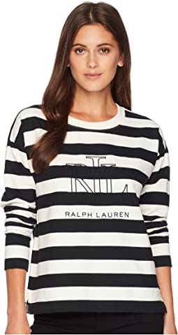 Logo Striped Terry T-Shirt
