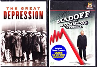 The History Channel the Great Depression , Crash the Next Great Depression , Madoff and the Scamming of America : 2 Dvd Set : Approx 5 Hours