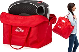 KiddiGo Backless Booster Seat Travel Bag | Stylish Shoulder Gate Check Bag Cover Protects Toddler Booster Car, Dining Seat When Traveling | Unique Airplane Travel Accessories for Parents