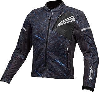 コミネ(KOMINE) バイク用 プロテクトフルメッシュジャケット Crush Blue/Blac L JK-140 1219 春夏向け CE規格レベル2 メッシュ素材 プロテクター