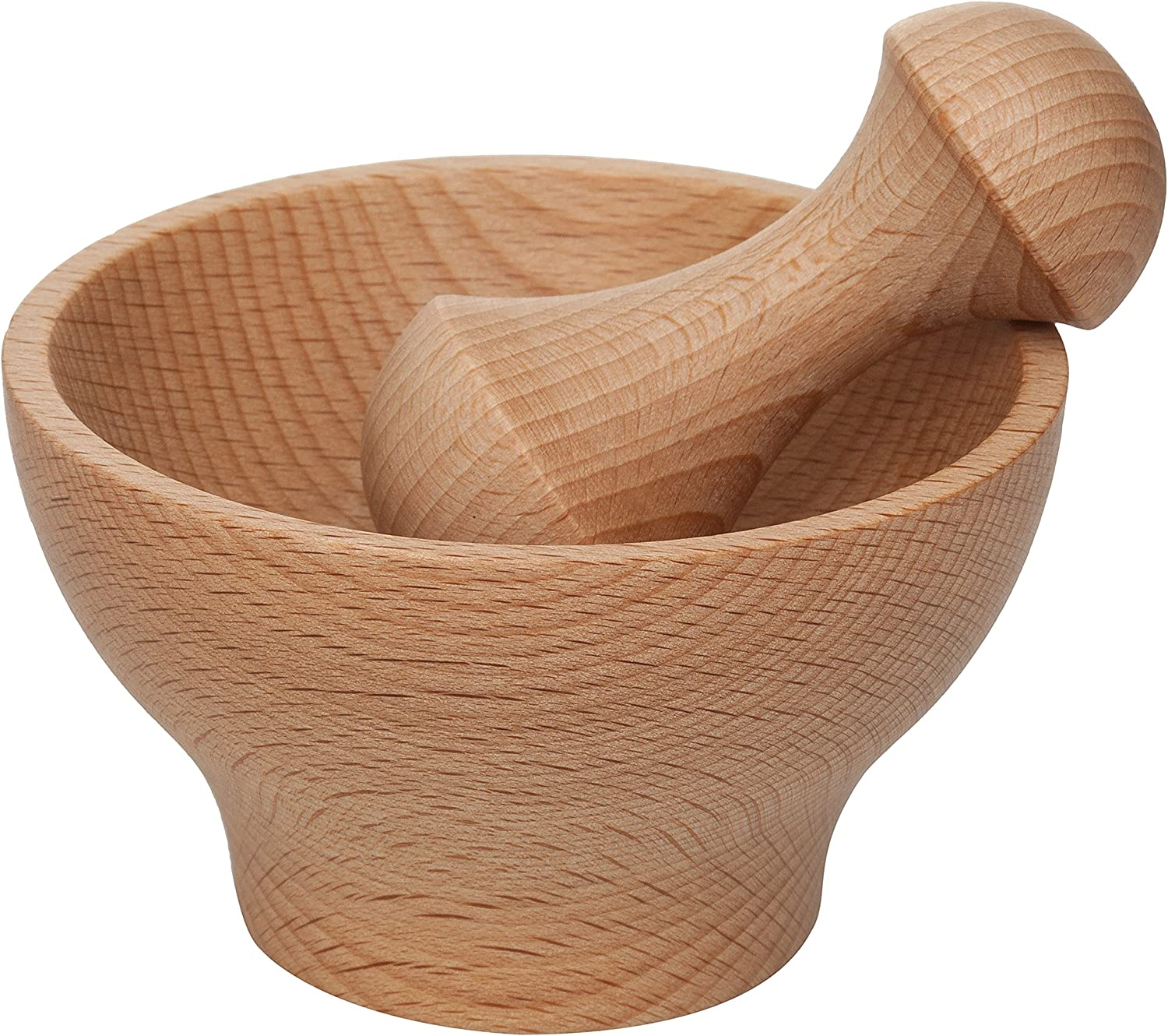HIC Wooden Mortar Import and online shopping Pestle 4-Inch Set Includes 3. with