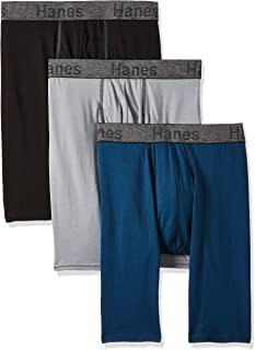 Men's 3-Pack Comfort Flex Fit Ultra Soft Long Leg Boxer...