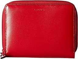 Audrey RFID Laney Continental Double Zip Wallet