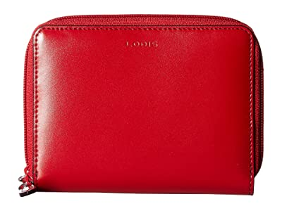 Lodis Accessories Audrey RFID Laney Continental Double Zip Wallet (Red) Wallet Handbags