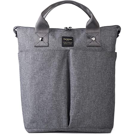 Kah&Kee Convertible Laptop Backpack and Tote Bag Handbag Concealed Strap Computer Compartment Travel School for Women Man (Gray)