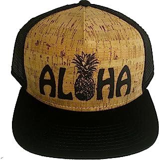 a4374b0324fb0 ThatsRad Aloha Pineapple Cork Snapback Mesh Trucker Hat Cap Flat Brim Shaka  Hawaii