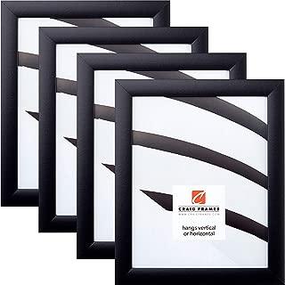Craig Frames 1WB3BK 10 x 13 Inch Picture Frame, Black, Set of 4