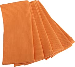 DII Waffle 18-Inch-by-28-Inch Kitchen Towel, Set of 6, Tangerine