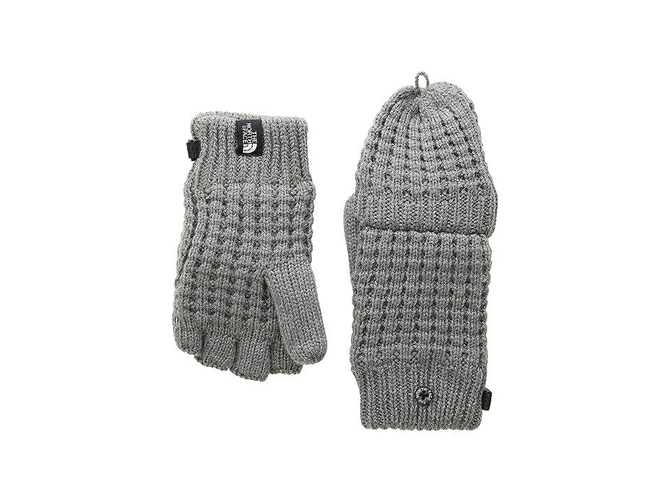 The North Face Kids Waffle Flip Mitt (Big Kids) (TNF Medium Grey Heather) Ski Gloves
