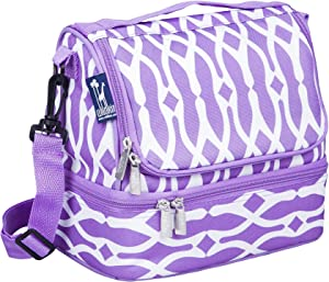 Wildkin Two Compartment Insulated Lunch Bag for Boys & Girls, Measures 9 x 8 x 6 Inches Lunch Box Bag for Kids, Ideal Size for Packing Hot or Cold Snacks for School & Travel, BPA-Free (Wishbone)