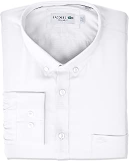 Lacoste Men's Long Sleeve Regular Fit Mini Piqué Shirt