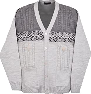 Mens Knitted Cardigan Classic Style V Neck Full Front Button Closure 3XL to 6XL