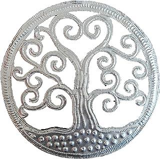No Eye Deer Placa para Colgar en la Pared, diseño de árbol de la Vida con Ciervo, Color Plateado metálico