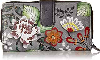 Hand Painted Leather Women's Two Fold Clutch Wallet