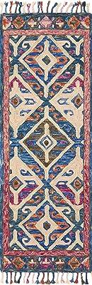 "Loloi Rugs, Zharah Collection - Denim / Multi Area Rug, 5' x 7'6"""