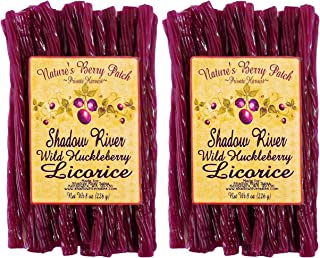 Shadow River Wild Huckleberry Gourmet Licorice Candy 8 oz - Pack of 2