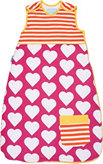 The Gro Company Grobag 2.5 Tog Side Zip Pocketful of Love Sleeping Bag for 0-6 Months Baby