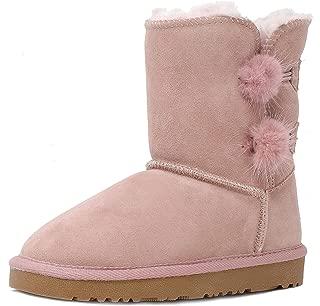 Boys & Girls Toddler/Little Kid/Big Kid Shorty-k Winter Snow Sheepskin Fur Boots