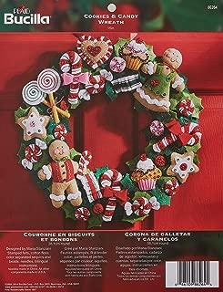Bucilla Felt Applique Wreath Kit, 15-Inch Round, 86264 Cookies & Candy