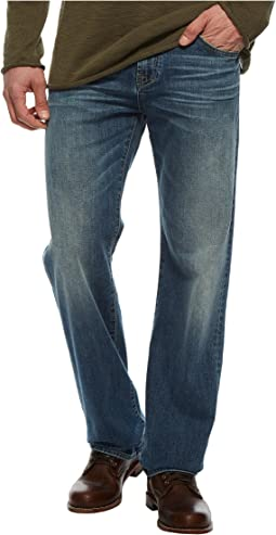 7 For All Mankind - Luxe Performance Austyn Relaxed Straight Leg in Bedrock