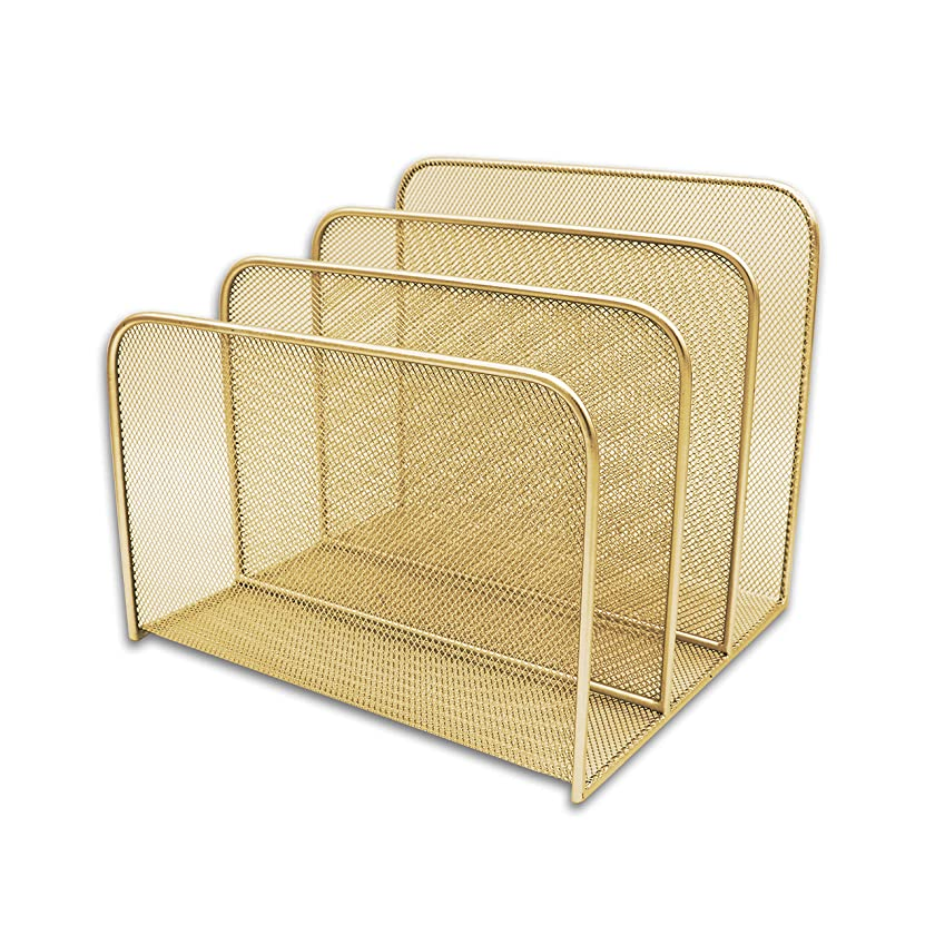 Delancey USA Gold Desk Organizer, Gold File Organizer, Folder Organizer, Office Organizer, Home Office, File Organizer Desktop, Wall File Holder, Desk Trays, File Stand, Filing Holders