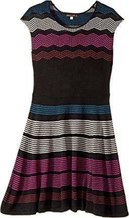 Ella Moss Girl - Melaine Intarsia Sweater Dress (Big Kids)