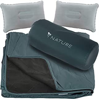 T Nature Waterproof Blanket Perfect for Camping Picnic Stadium Beach Hiking Travel Field Beach Boats Festival. Made Water ...