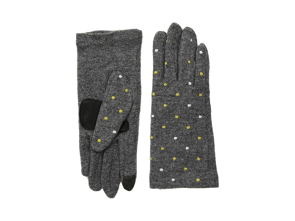 Echo Design Dot Dot Dot Gloves (Heather Grey) Dress Gloves