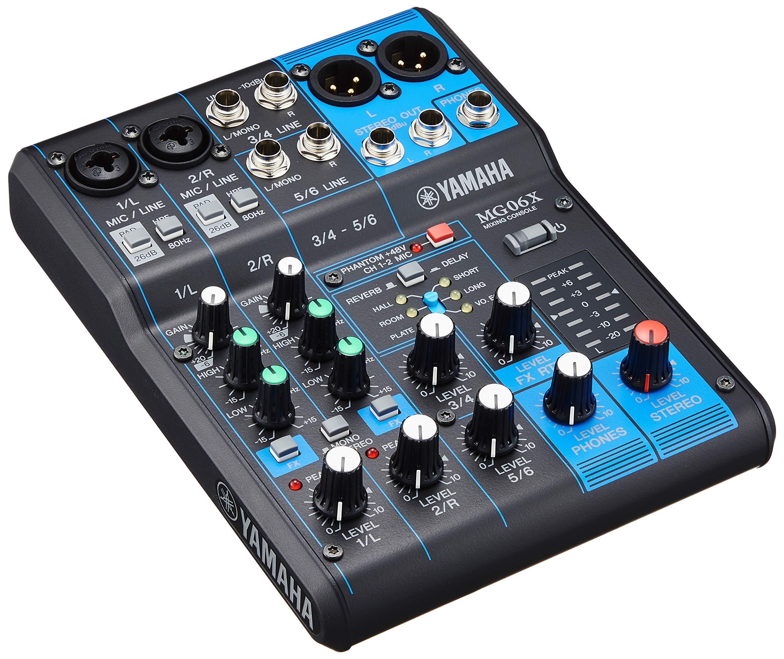 YAMAHA 6 channel console digital MG06X