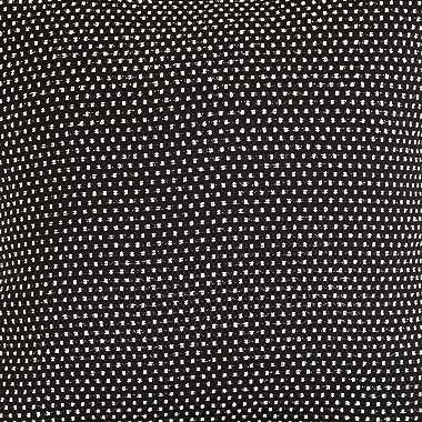 HiEnd Accents Blackberry Polka Dot Duvet Cover, Super King, Black & White