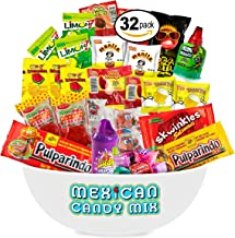 Mexican Candy Assortment Snacks (32 Count), Variety Of Spicy, Sweet, Sour Bulk Candies Dulces Mexicanos, Includes Lucas, Pelon, Vero Lollipops, Pulparindo Makes A Great Gift By MTC.