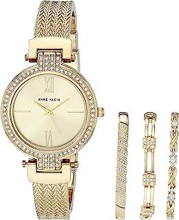 Anne Klein Women's Swarovski Crystal Accented Watch and Bracelet Set, AK/3584