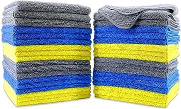 Polyte - Rengöringshandduk - mikrofiber - 40 x 40 cm 36-pack, premium, blå, grå, gul