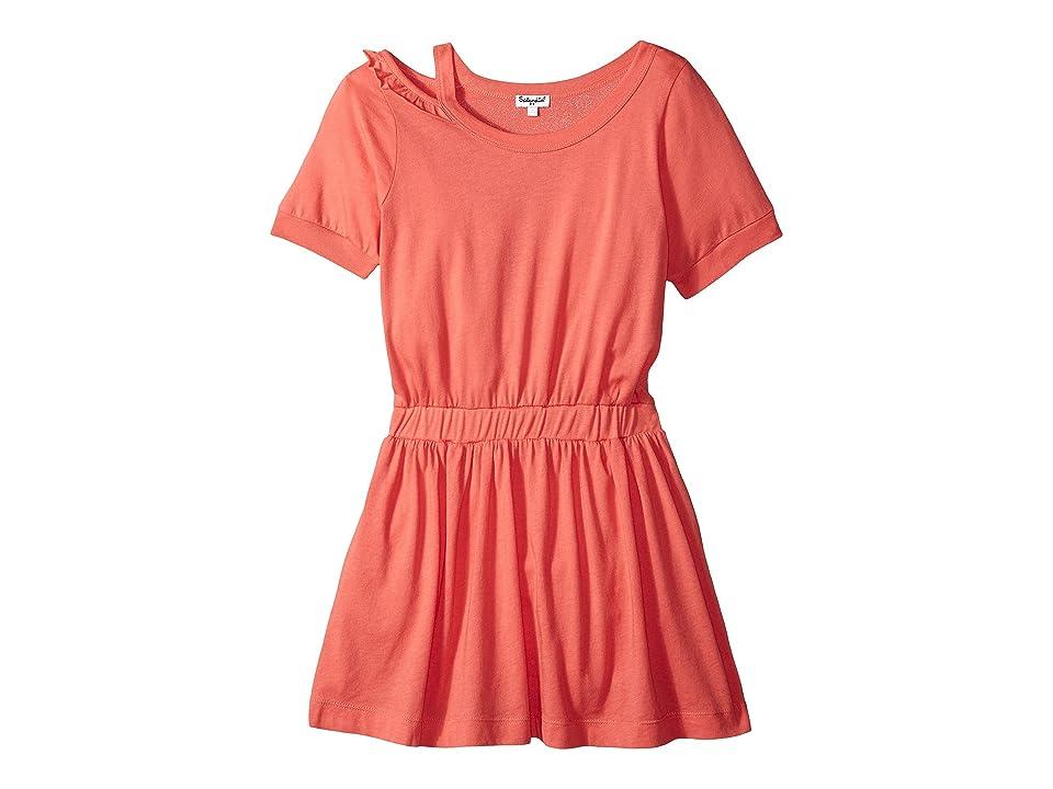 Splendid Littles Cold Shoulder Dress (Big Kids) (Coral Fan) Girl