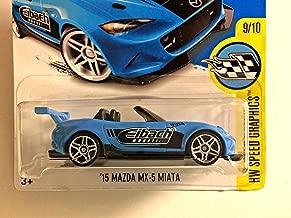 Hot Wheels 2017 HW Speed Graphics '15 Mazda MX-5 Miata 177/365, Light Blue