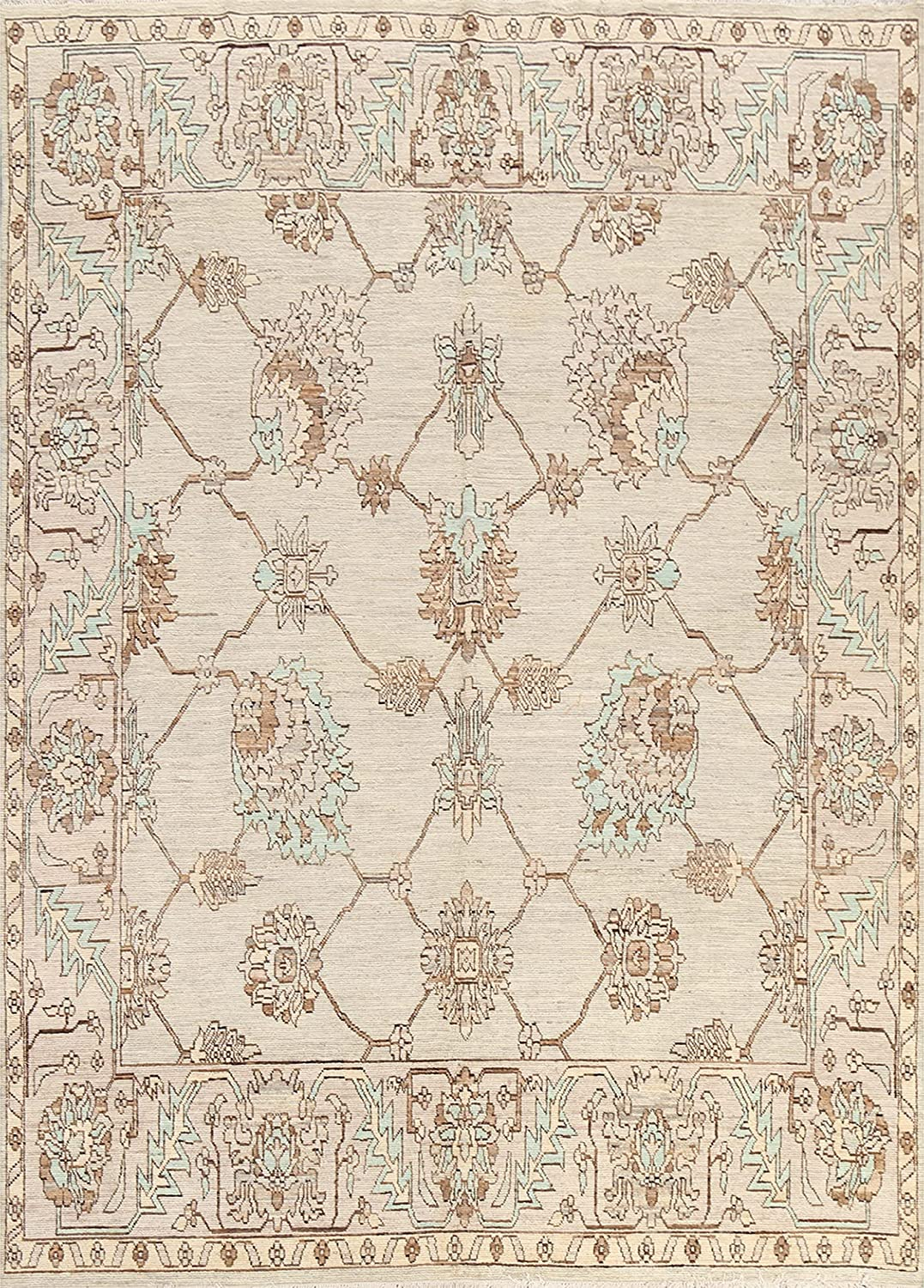 Ranking TOP17 Vegetable Dye Manufacturer regenerated product Floral Ziegler Oriental Rug Area Hand-Knotted Wool