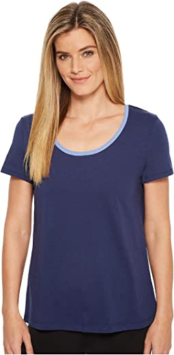 Jockey Short Sleeve Top with Back Keyhole
