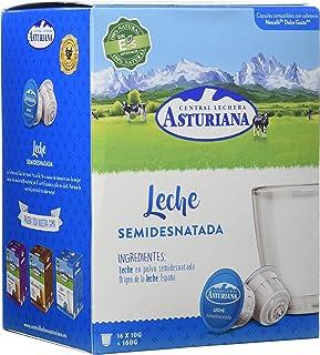 comprar comparacion Central Lechera Asturiana Cápsulas de Leche Semidesnatada - Compatibles con Dolce Gusto - 4 Paquetes de 16 Cápsulas - Tota...