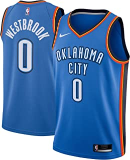 Nike Russell Westbrook Oklahoma City Thunder NBA Youth 8-20 Blue Road Icon Edition Player Jersey