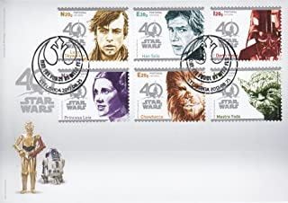 STAR WARS 40th Anniversary Collectible Postage Stamps Set First Day Cover Portugal